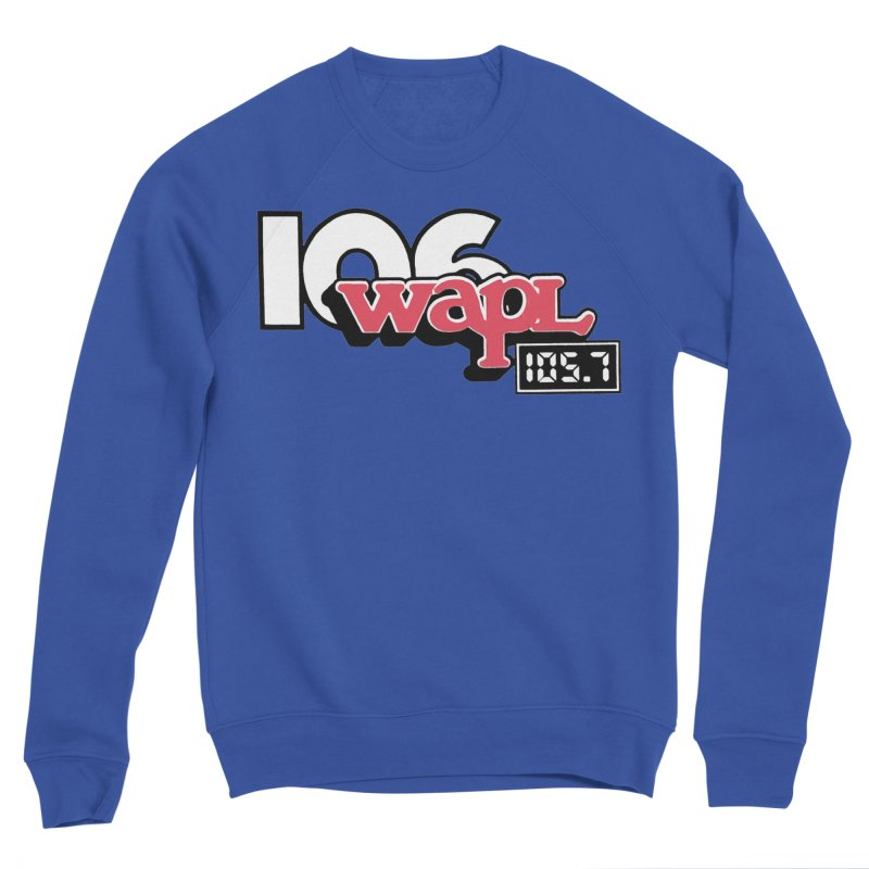 WAPL Digital Transition Logo Men's Sponge Fleece Sweatshirt by 105.7 WAPL Web Store