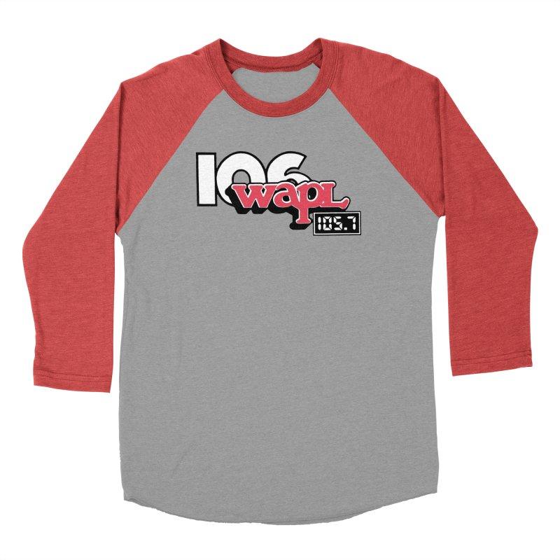 WAPL Digital Transition Logo Women's Baseball Triblend Longsleeve T-Shirt by 105.7 WAPL Web Store