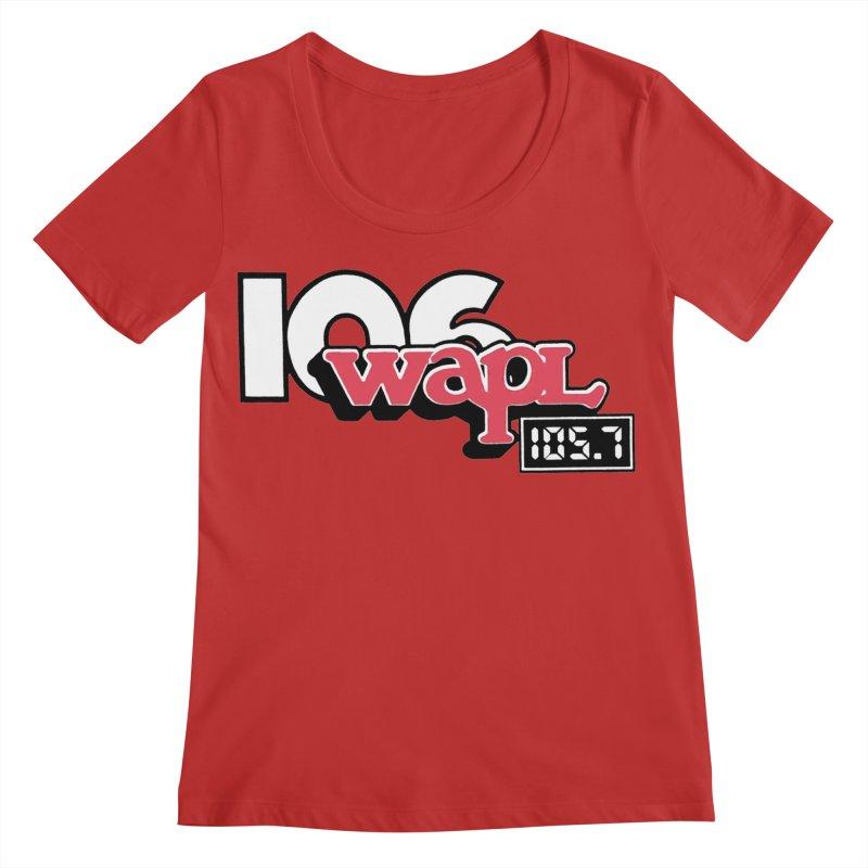 WAPL Digital Transition Logo Women's Regular Scoop Neck by 105.7 WAPL Web Store