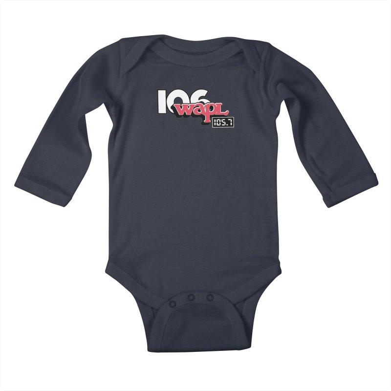 WAPL Digital Transition Logo Kids Baby Longsleeve Bodysuit by 105.7 WAPL Store