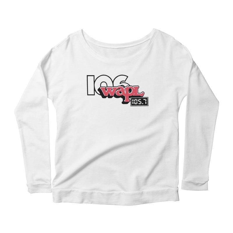 WAPL Digital Transition Logo Women's Scoop Neck Longsleeve T-Shirt by 105.7 WAPL Web Store