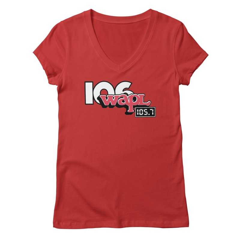 WAPL Digital Transition Logo Women's Regular V-Neck by 105.7 WAPL Web Store