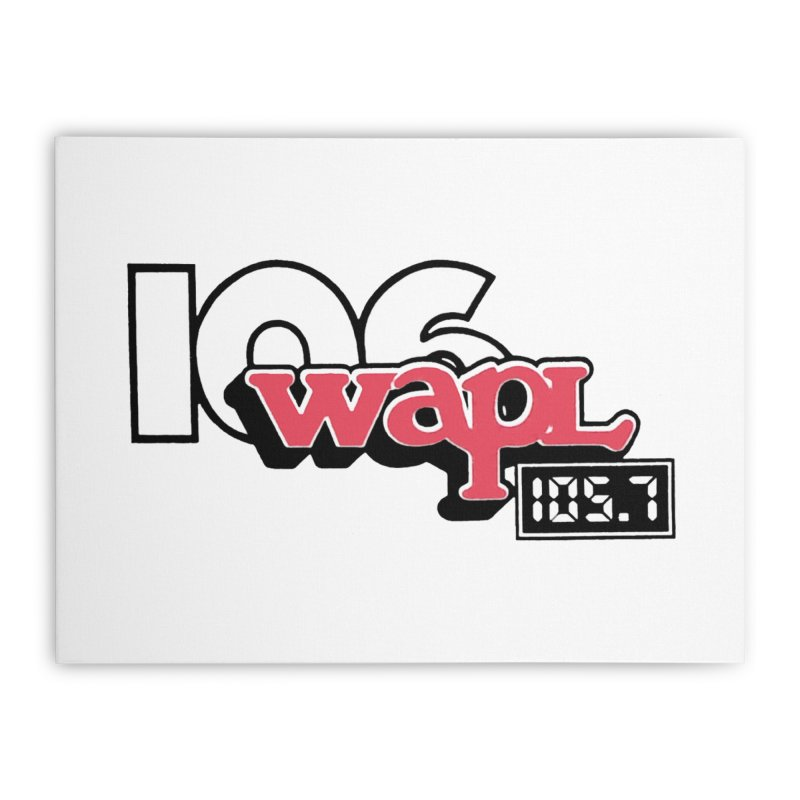WAPL Digital Transition Logo Home Stretched Canvas by 105.7 WAPL Store