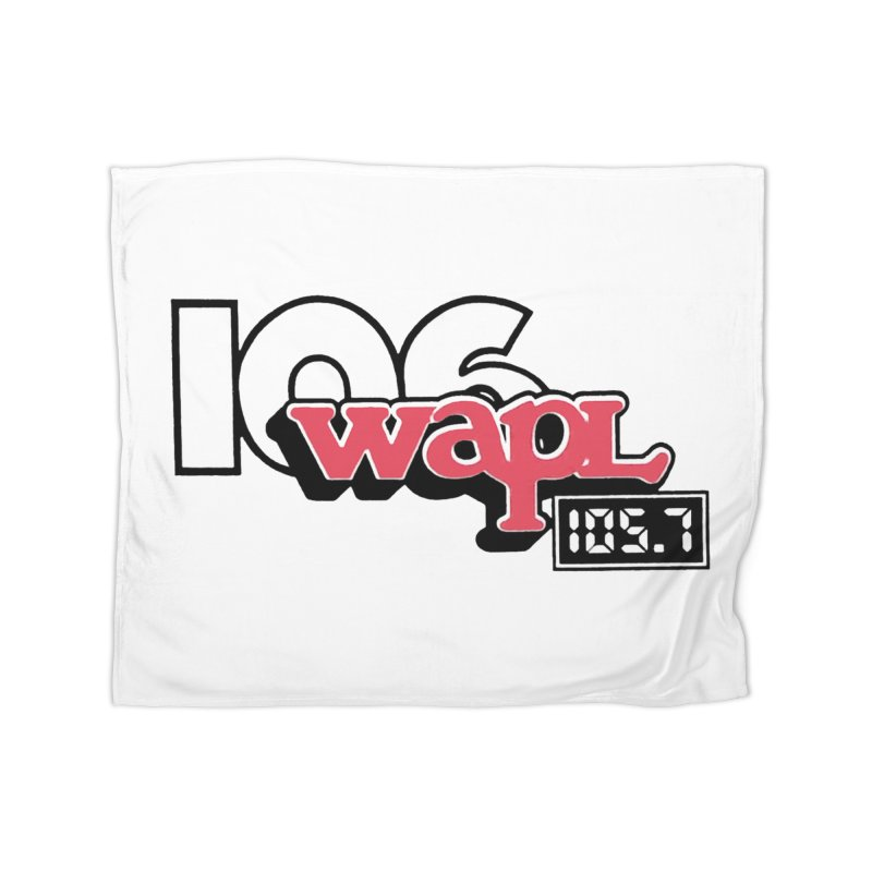WAPL Digital Transition Logo Home Fleece Blanket Blanket by 105.7 WAPL Web Store