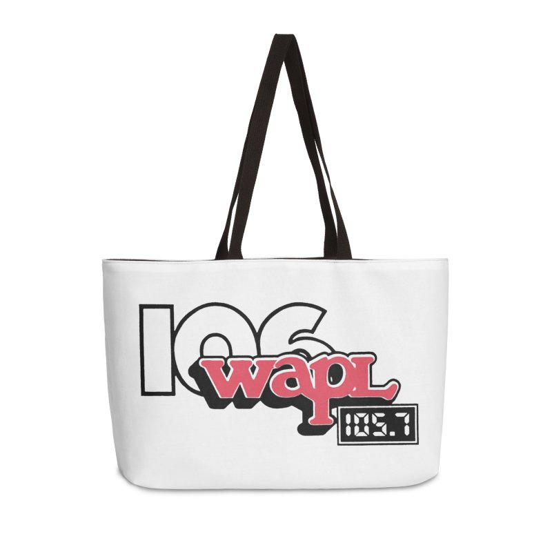 WAPL Digital Transition Logo Accessories Weekender Bag Bag by 105.7 WAPL Web Store