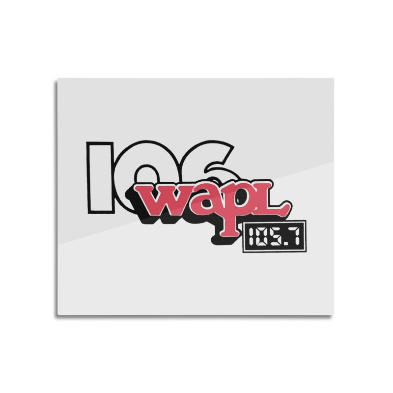 WAPL Digital Transition Logo Home Mounted Aluminum Print by 105.7 WAPL Store