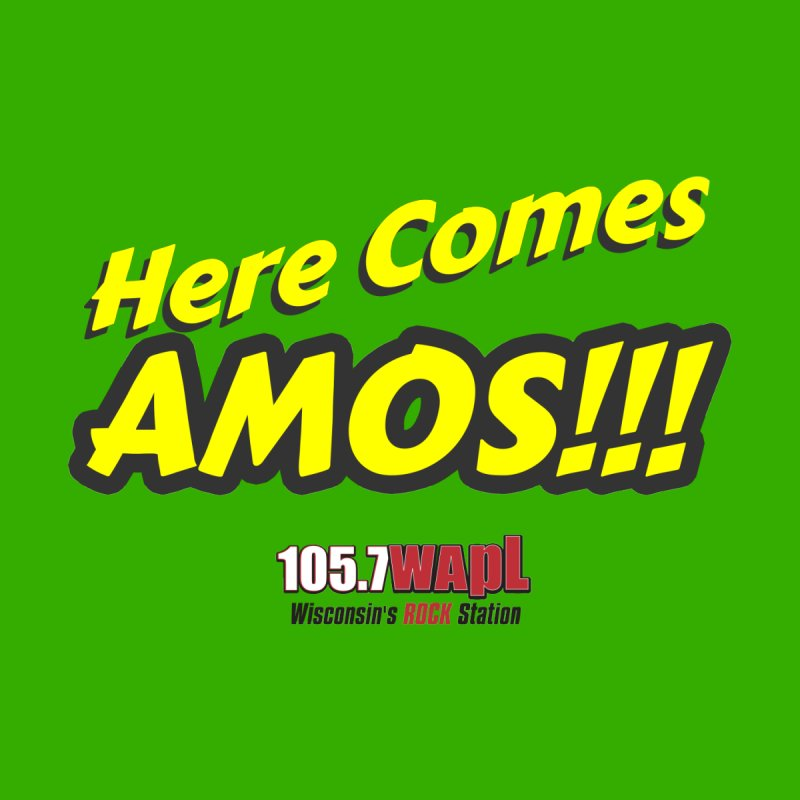"""Here Comes Amos!"" Women's V-Neck by 105.7 WAPL Web Store"