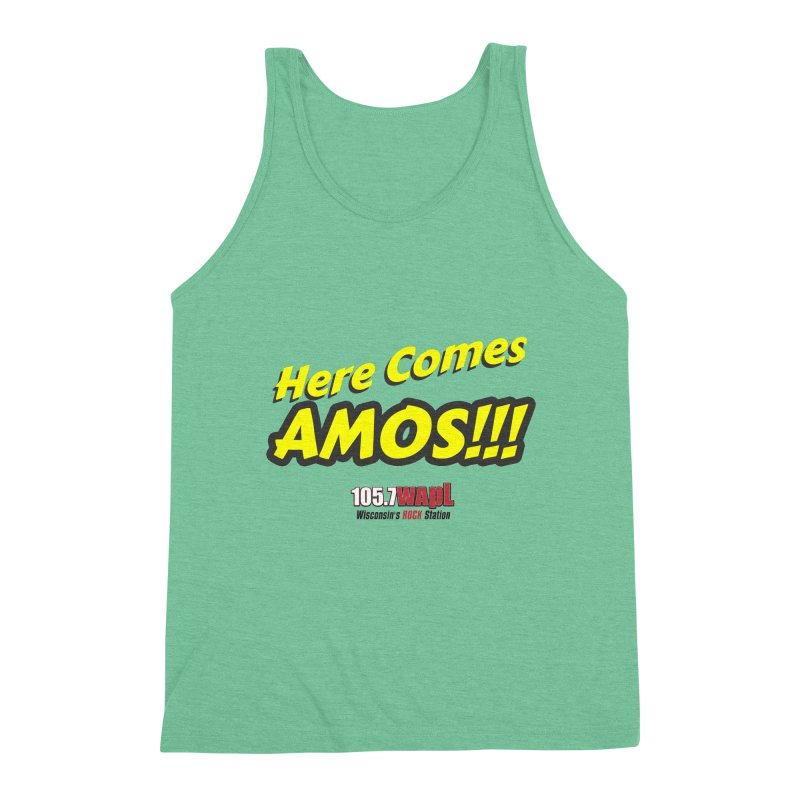 """""""Here Comes Amos!"""" Men's Triblend Tank by 105.7 WAPL Web Store"""