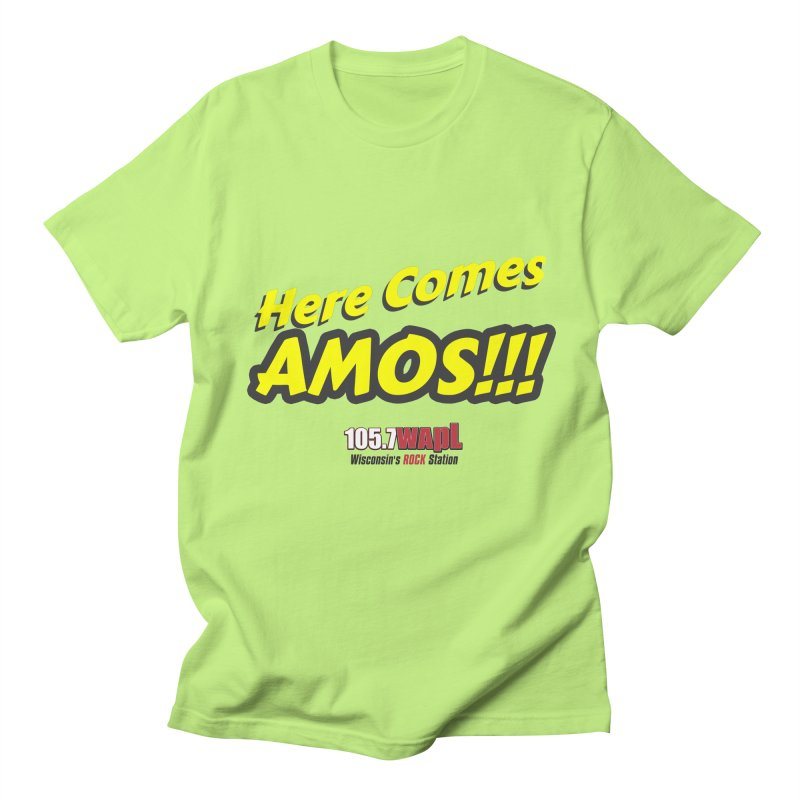 """""""Here Comes Amos!"""" Men's Regular T-Shirt by 105.7 WAPL Web Store"""