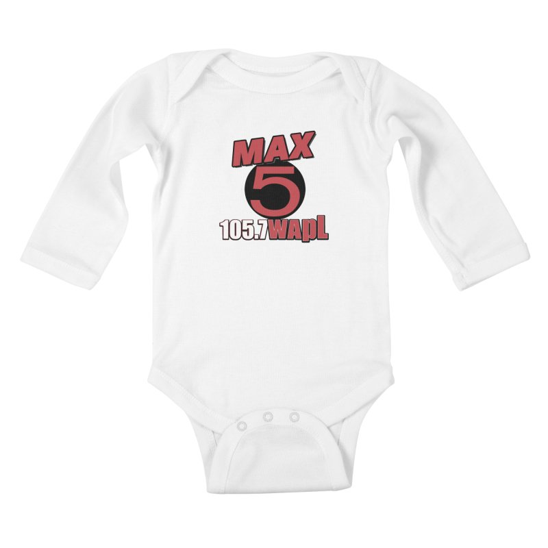 Max 5 Kids Baby Longsleeve Bodysuit by 105.7 WAPL Web Store