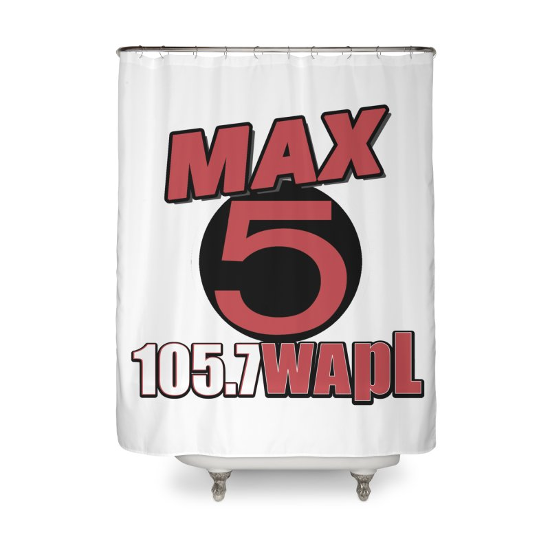 Max 5 Home Shower Curtain by 105.7 WAPL Web Store