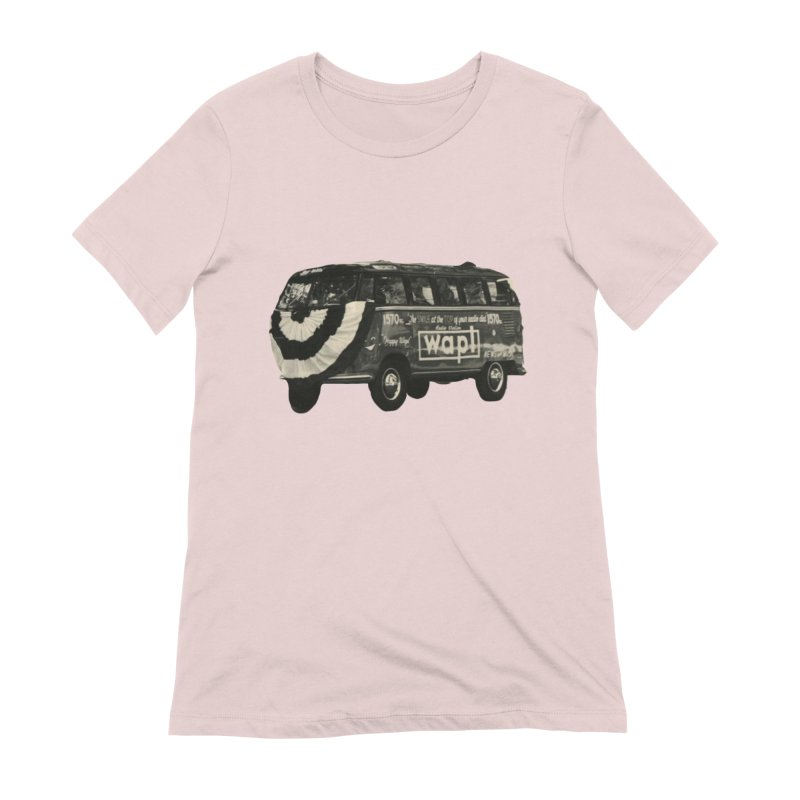 """WAPL-AM """"Old School"""" Bus Women's Extra Soft T-Shirt by 105.7 WAPL Web Store"""