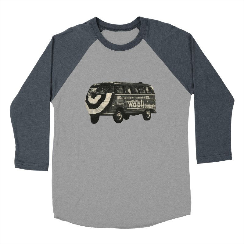 "WAPL-AM ""Old School"" Bus Women's Baseball Triblend Longsleeve T-Shirt by 105.7 WAPL Web Store"