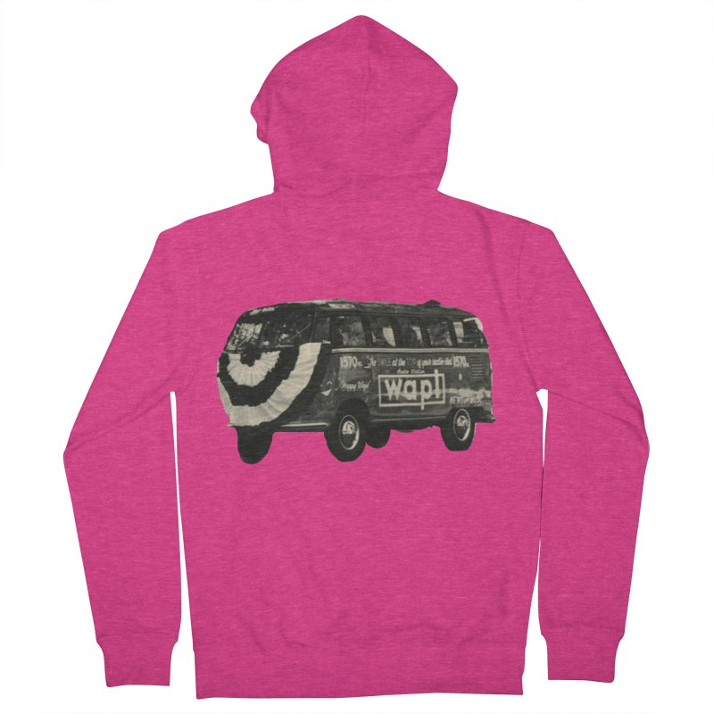 """WAPL-AM """"Old School"""" Bus Women's French Terry Zip-Up Hoody by 105.7 WAPL Web Store"""
