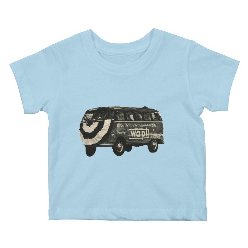"WAPL-AM ""Old School"" Bus Kids Baby T-Shirt by 105.7 WAPL Web Store"
