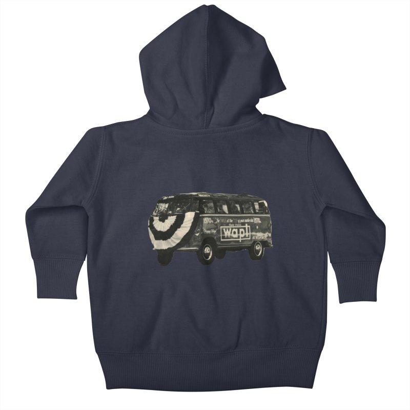 """WAPL-AM """"Old School"""" Bus Kids Baby Zip-Up Hoody by 105.7 WAPL Store"""