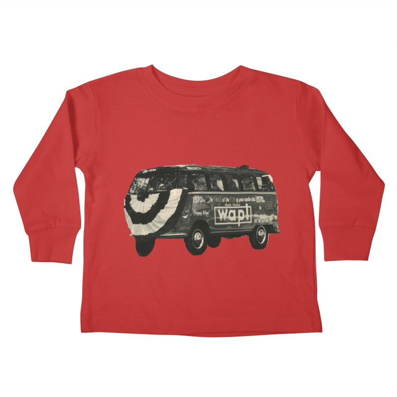 "WAPL-AM ""Old School"" Bus Kids Toddler Longsleeve T-Shirt by 105.7 WAPL Web Store"