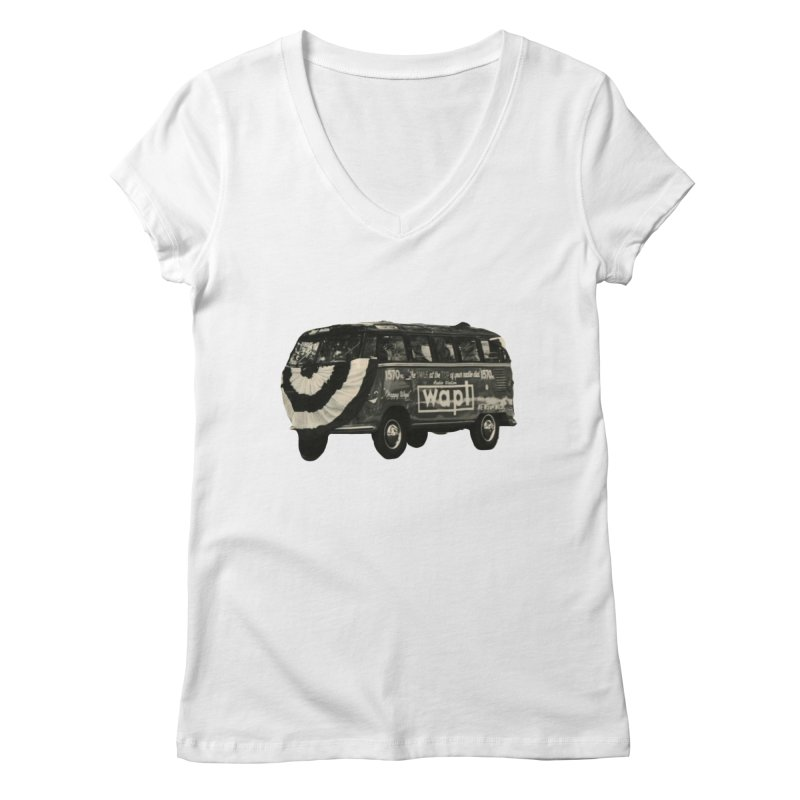 "WAPL-AM ""Old School"" Bus Women's V-Neck by 105.7 WAPL Store"