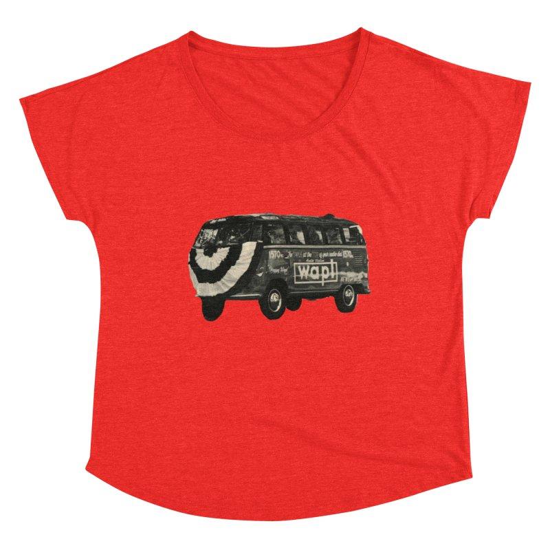 """WAPL-AM """"Old School"""" Bus Women's Scoop Neck by 105.7 WAPL Store"""