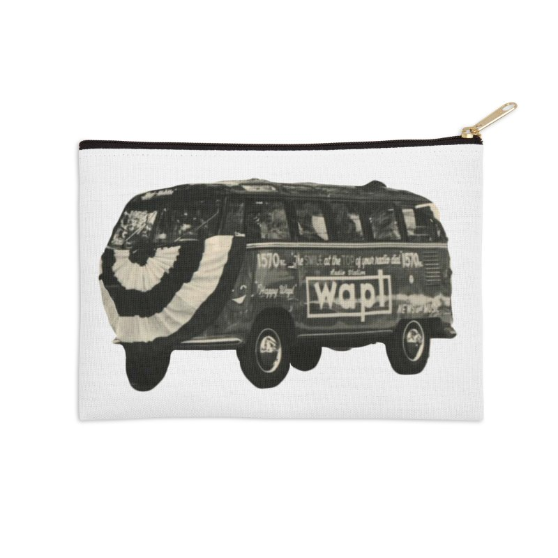"WAPL-AM ""Old School"" Bus Accessories Zip Pouch by 105.7 WAPL Web Store"