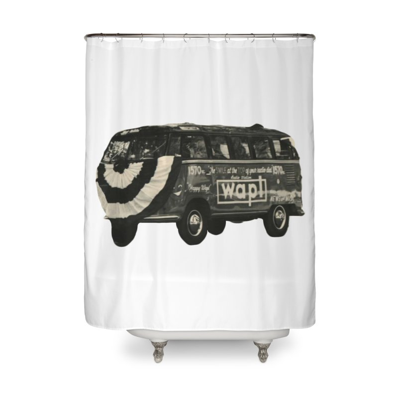 "WAPL-AM ""Old School"" Bus Home Shower Curtain by 105.7 WAPL Web Store"