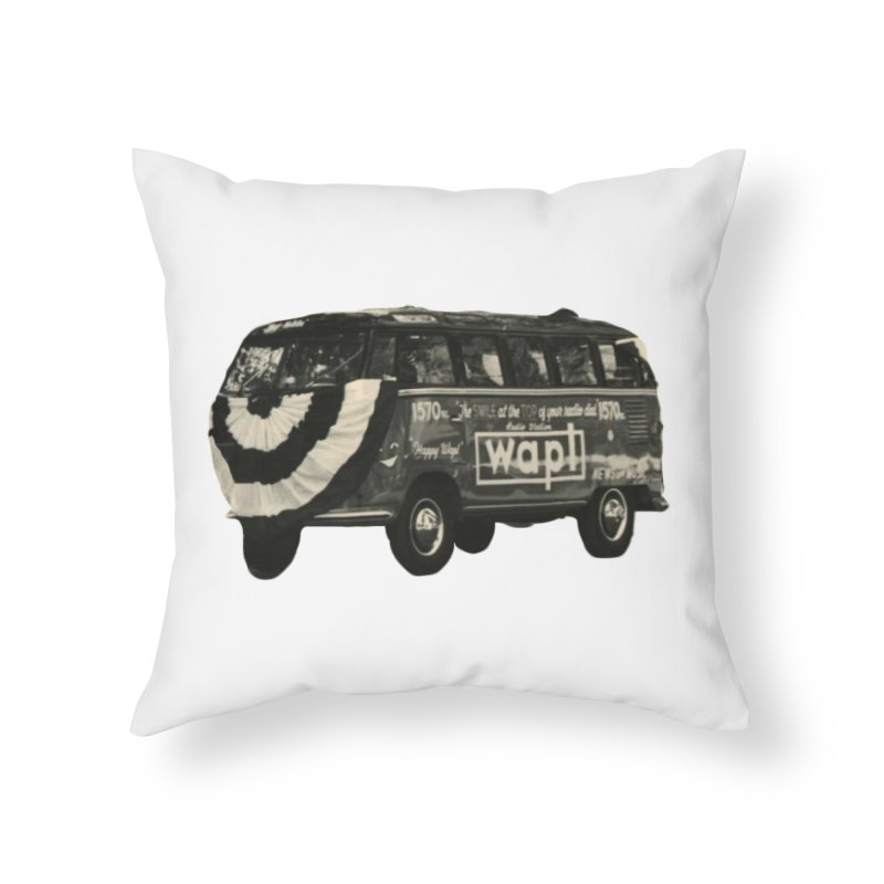 "WAPL-AM ""Old School"" Bus Home Throw Pillow by 105.7 WAPL Store"