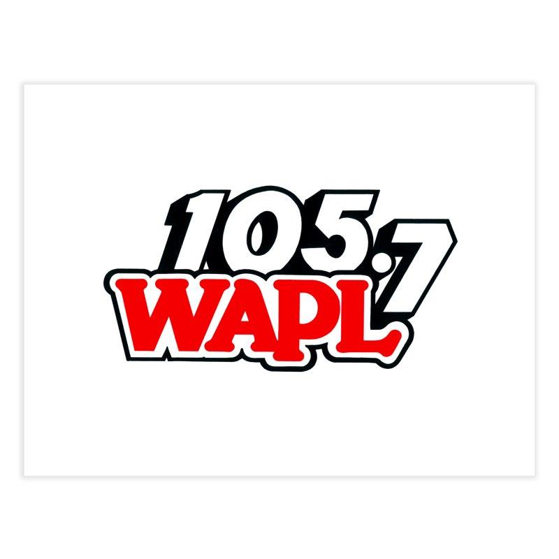 WAPL 90s Logo Home Fine Art Print by 105.7 WAPL Store