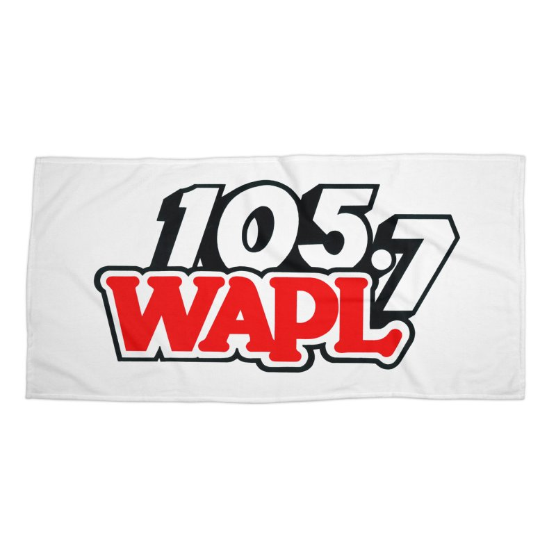 WAPL 90s Logo Accessories Beach Towel by 105.7 WAPL Store