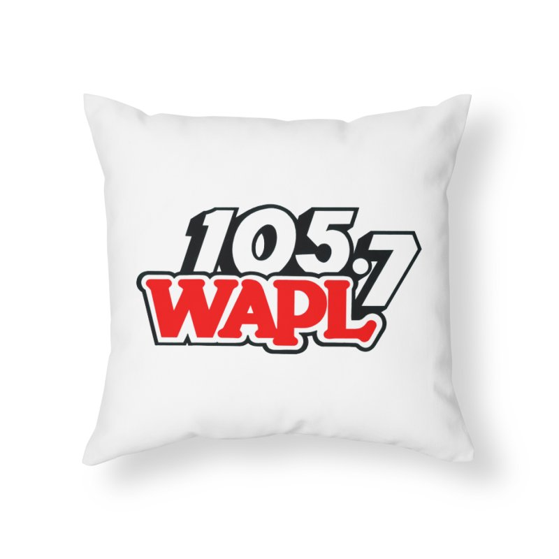 WAPL 90s Logo Home Throw Pillow by 105.7 WAPL Store