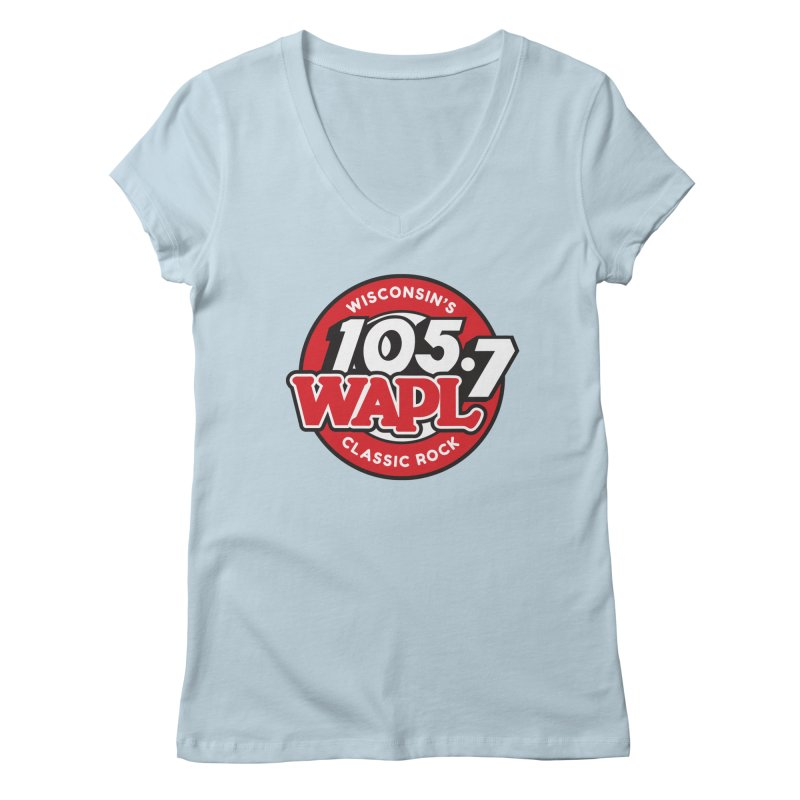 "WAPL ""Wisconsin's Classic Rock"" [2021] Women's V-Neck by 105.7 WAPL Store"