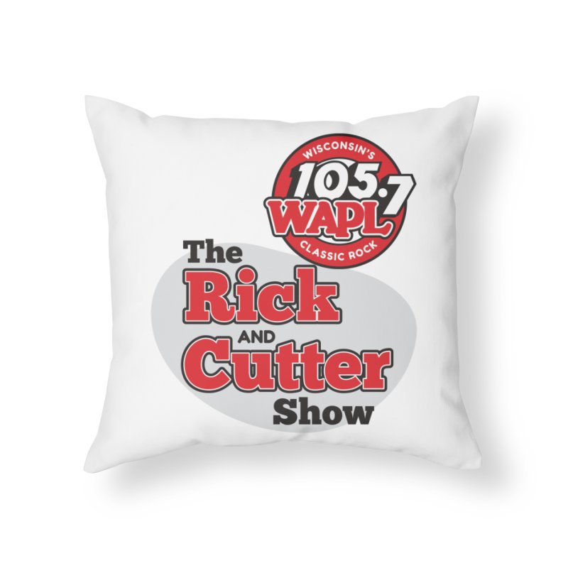 The Rick & Cutter Show Home Throw Pillow by 105.7 WAPL Store