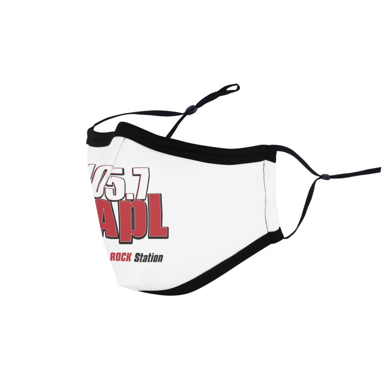 WAPL Stacked Logo (black lettering) Accessories Face Mask by 105.7 WAPL Store
