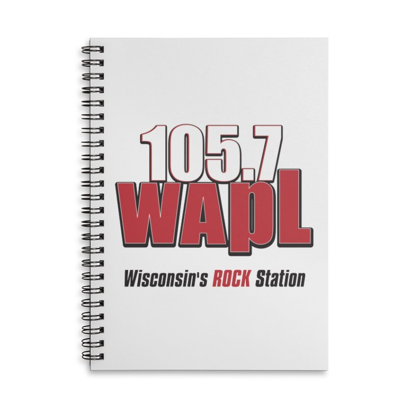 WAPL Stacked Logo (black lettering) Accessories Lined Spiral Notebook by 105.7 WAPL Web Store
