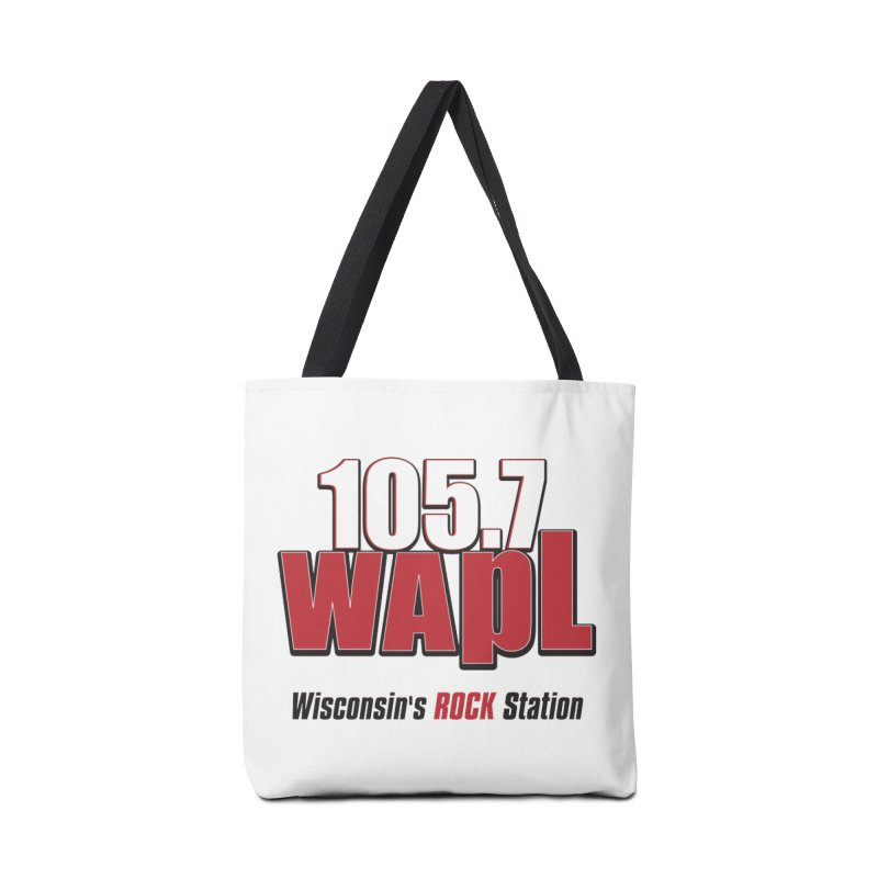 WAPL Stacked Logo (black lettering) Accessories Bag by 105.7 WAPL Web Store