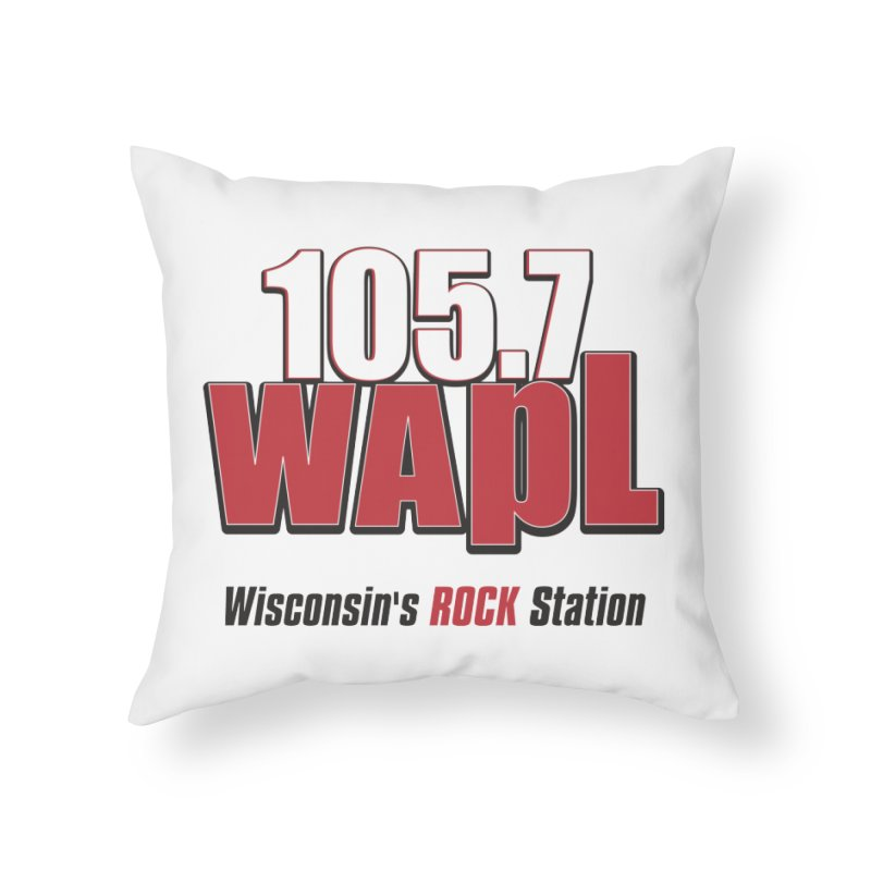 WAPL Stacked Logo (black lettering) Home Throw Pillow by 105.7 WAPL Web Store