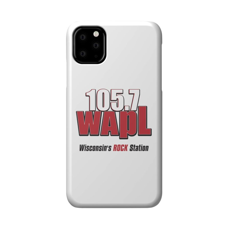 WAPL Stacked Logo (black lettering) Accessories Phone Case by 105.7 WAPL Web Store