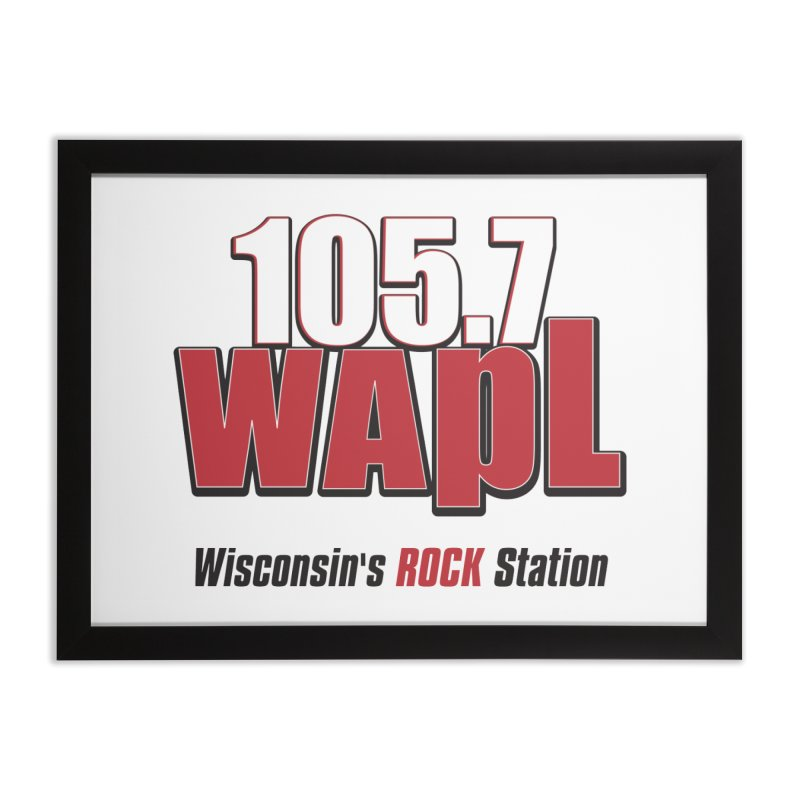 WAPL Stacked Logo (black lettering) Home Framed Fine Art Print by 105.7 WAPL Web Store