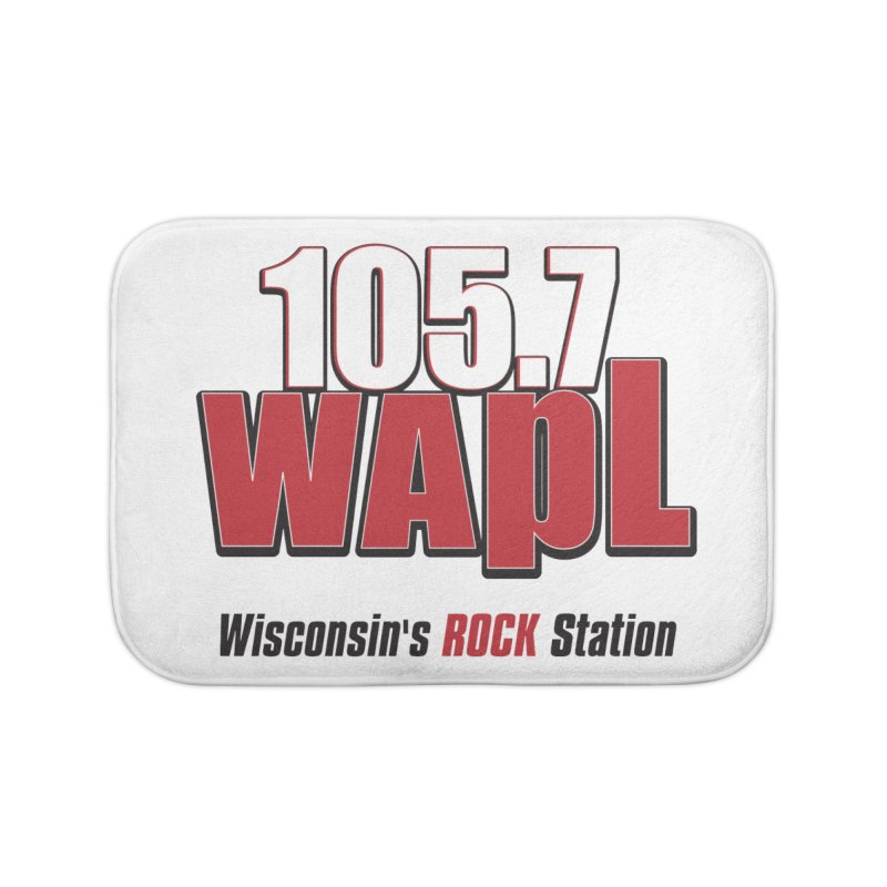 WAPL Stacked Logo (black lettering) Home Bath Mat by 105.7 WAPL Web Store