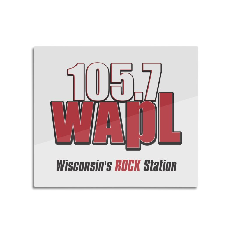 WAPL Stacked Logo (black lettering) Home Mounted Aluminum Print by 105.7 WAPL Web Store