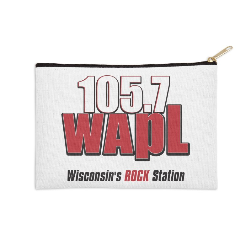 WAPL Stacked Logo (black lettering) Accessories Zip Pouch by 105.7 WAPL Store