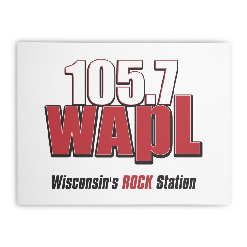 WAPL Stacked Logo (black lettering) Home Stretched Canvas by 105.7 WAPL Web Store