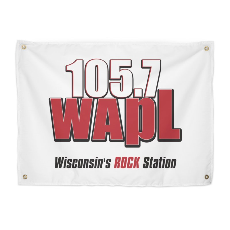 WAPL Stacked Logo (black lettering) Home Tapestry by 105.7 WAPL Web Store