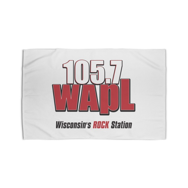 WAPL Stacked Logo (black lettering) Home Rug by 105.7 WAPL Web Store