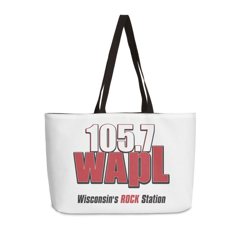 WAPL Stacked Logo (black lettering) Accessories Weekender Bag Bag by 105.7 WAPL Web Store