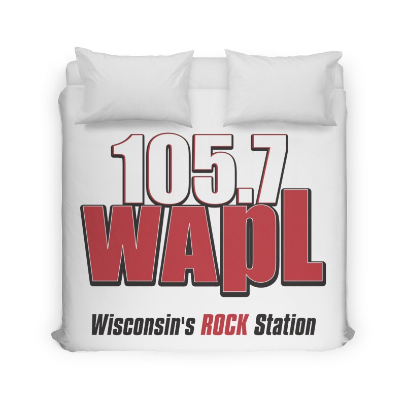 WAPL Stacked Logo (black lettering) Home Duvet by 105.7 WAPL Web Store