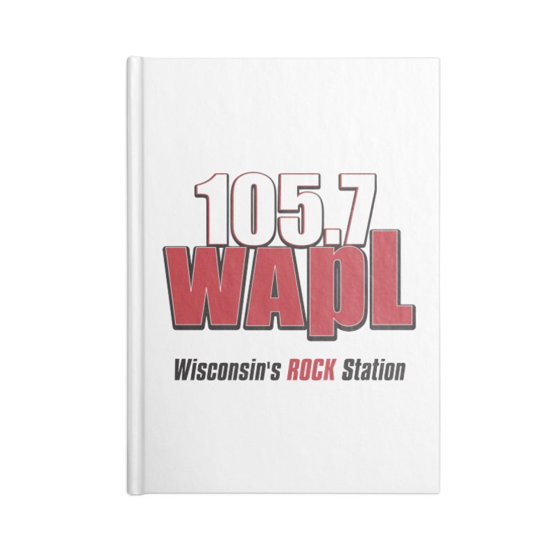 WAPL Stacked Logo (black lettering) Accessories Notebook by 105.7 WAPL Store