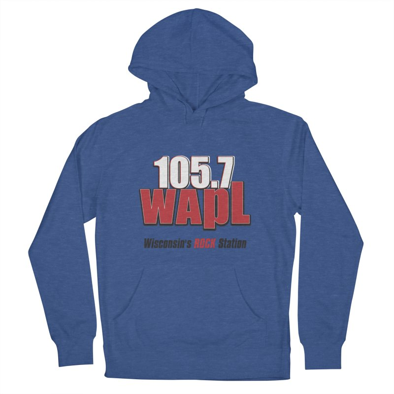 WAPL Stacked Logo (black lettering) Women's French Terry Pullover Hoody by 105.7 WAPL Web Store