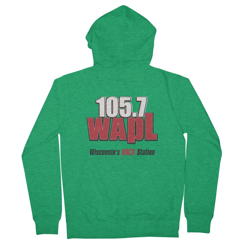 WAPL Stacked Logo (black lettering) Men's French Terry Zip-Up Hoody by 105.7 WAPL Web Store