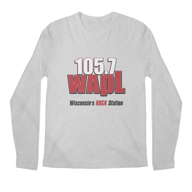 WAPL Stacked Logo (black lettering) Men's Regular Longsleeve T-Shirt by 105.7 WAPL Web Store