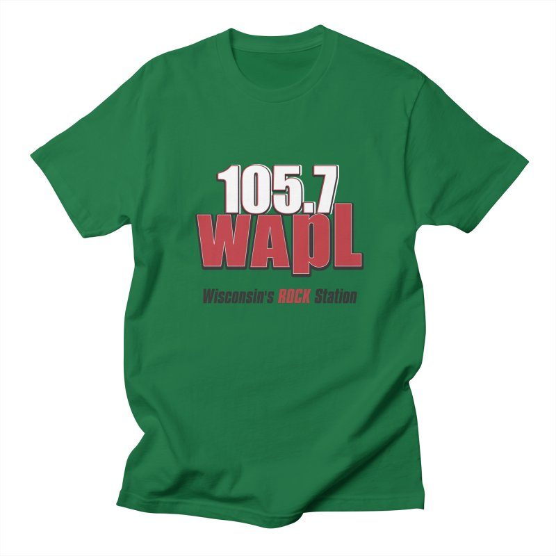 WAPL Stacked Logo (black lettering) Men's T-Shirt by 105.7 WAPL Store